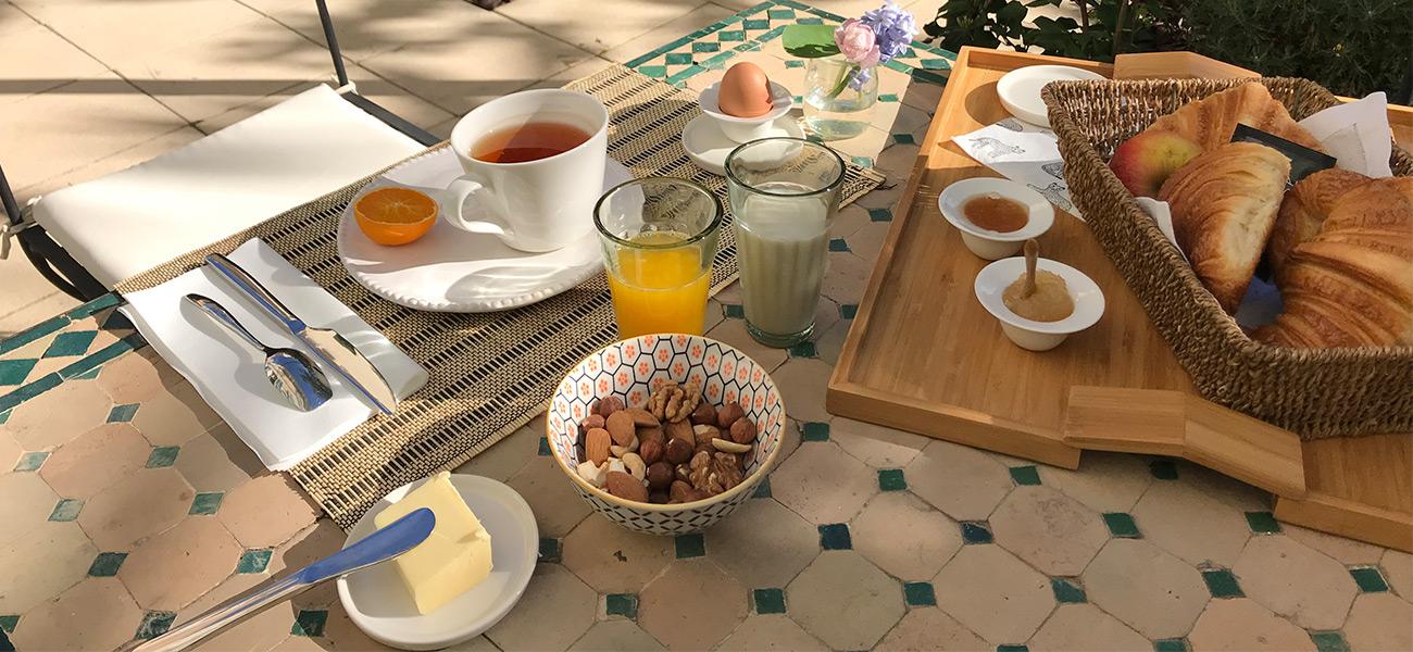 petit déjeuner casa musa